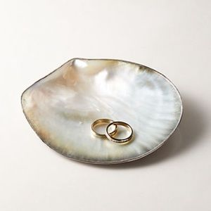 Natural Capiz Shell Jewelry or Soap Dish